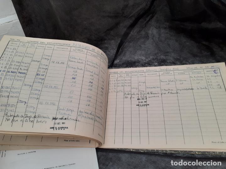 Documentos antiguos: LIBRO OFICIAL DE CONTABILIDAD DE ESTUPEFACIENTES FARMACIA AÑOS 90 - Foto 6 - 193974358