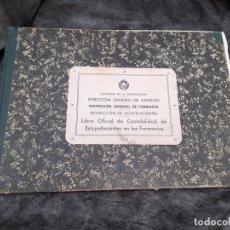 Documentos antiguos: LIBRO OFICIAL DE CONTABILIDAD DE ESTUPEFACIENTES FARMACIA AÑOS 90. Lote 193974358