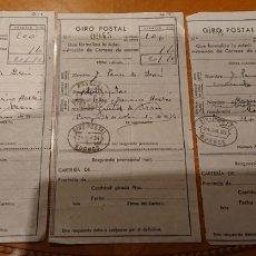 Documentos antiguos: REPÚBLICA ESPAÑOLA. BURGOS, RESGUARDO GIRO POSTAL. LOTE DE TRES.. Lote 194151853