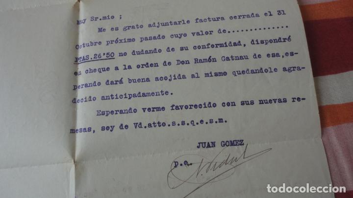 Documentos antiguos: ANTIGUA CARTA Y RECIBO PAGO.AGENCIA TRANSPORTES.LA PALLARESA.JUAN.GOMEZ.TARREGA 1926 - Foto 3 - 194234082