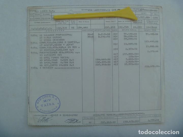 MARINA MERCANTE : NOMINA DE CAPITAN DEL BARCO TAIBA DE LA EMPRESA NAVIERA MED-LINES. BARCELONA, 1982 (Coleccionismo - Documentos - Otros documentos)