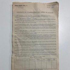 Documentos antiguos: SOCIEDAD AZUCARERA LARIOS , MÁLAGA 1973 , 1974 , 1975 LOTE DE DOCUMENTOS , CONTRATOS. Lote 194292853