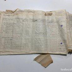 Documentos antiguos: SOCIEDAD HIDROELECTRICA DEL CHORRO , MÁLAGA , LOTE DE DOCUMENTOS DE 1942 . Lote 194293186