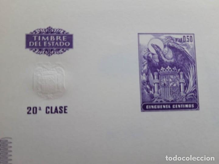 Documentos antiguos: 10 Hojas dobles consecutivas Timbre del Estado años 60, 20 Clase, 50 céntimos sellos fiscales - Foto 2 - 206967921
