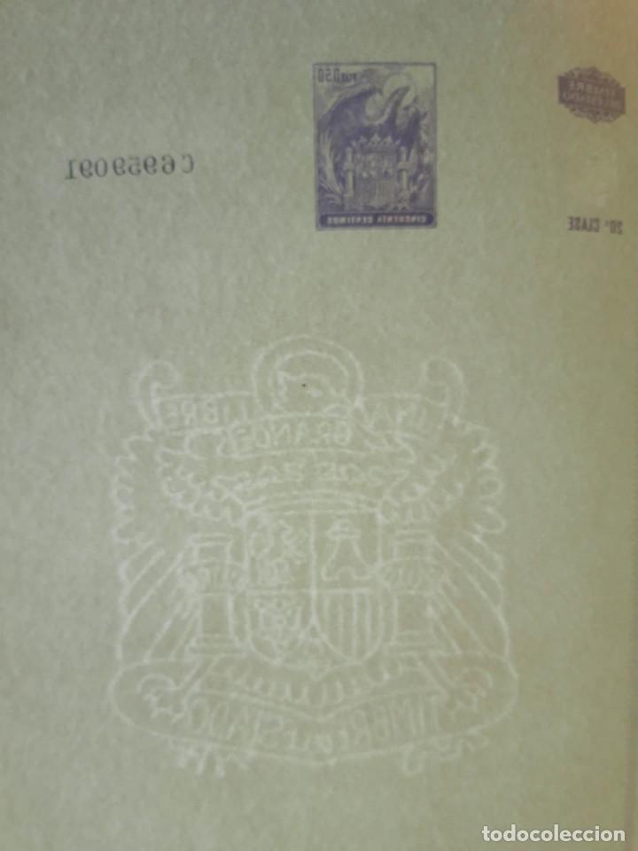Documentos antiguos: 10 Hojas dobles consecutivas Timbre del Estado años 60, 20 Clase, 50 céntimos sellos fiscales - Foto 3 - 206967921