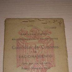 Documentos antiguos: ANTIGUA CARTILLA DE RACIONAMIENTO, MADRID.AÑOS 1952.EPOCA FRANQUISTA. Lote 194317853