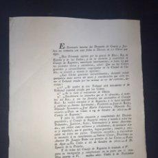 Documentos antiguos: CÁDIZ, 1811. GUERRA INDEPENDENCIA. TRATAMIENTO DEL TRIBUNAL CREADO. CONSEJO REGENCIA.. Lote 194321831