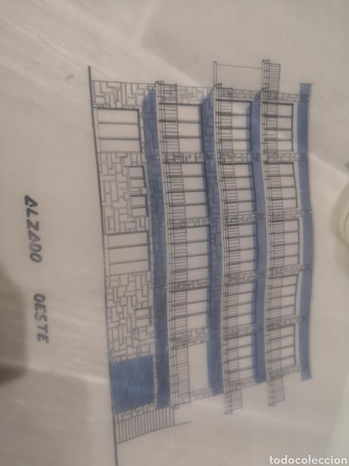 Documentos antiguos: Benidorm. Rincón de Loix. Residencia Lido, lote planos ampliación, 1960, arquitecto. - Foto 5 - 194340113