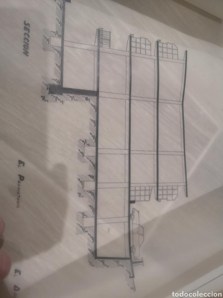 Documentos antiguos: Benidorm. Rincón de Loix. Residencia Lido, lote planos ampliación, 1960, arquitecto. - Foto 7 - 194340113
