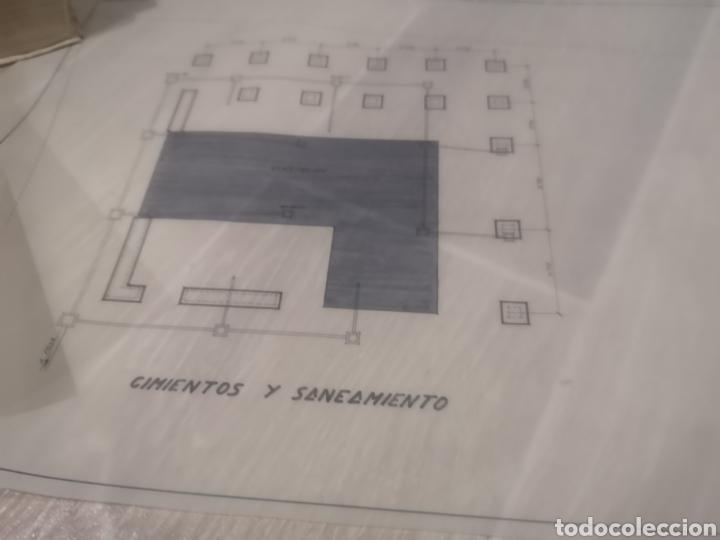 Documentos antiguos: Benidorm. Rincón de Loix. Residencia Lido, lote planos ampliación, 1960, arquitecto. - Foto 8 - 194340113
