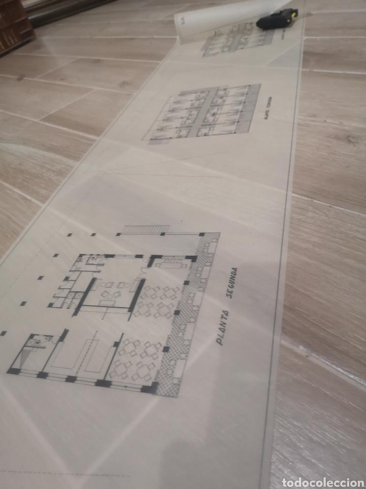 Documentos antiguos: Benidorm. Rincón de Loix. Residencia Lido, lote planos ampliación, 1960, arquitecto. - Foto 11 - 194340113