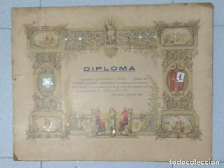 DIPLOMA COLEGIO HISPANO AMERICANO AÑO 1920. (Coleccionismo - Documentos - Otros documentos)