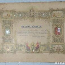 Documentos antiguos: DIPLOMA COLEGIO HISPANO AMERICANO AÑO 1920.. Lote 194346151