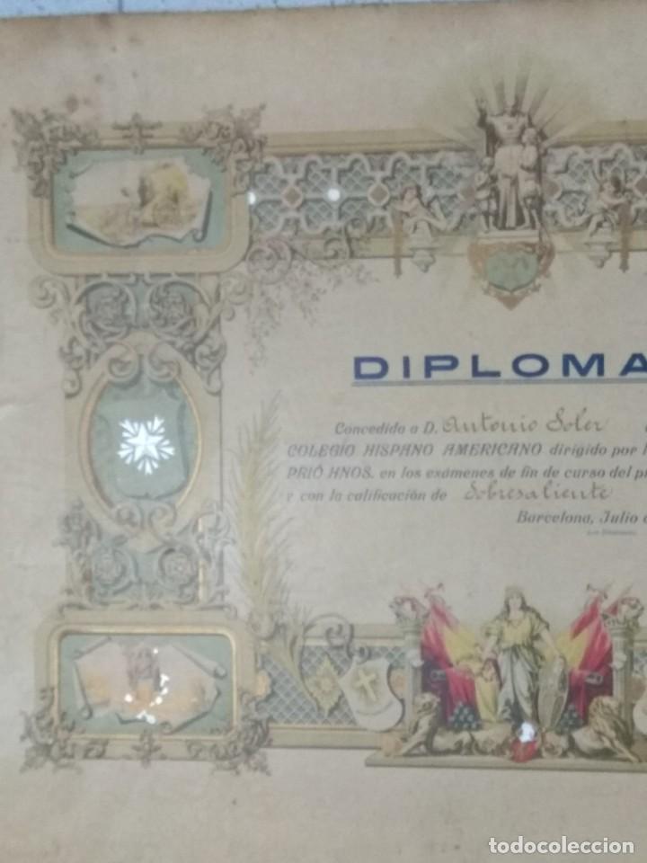 Documentos antiguos: DIPLOMA COLEGIO HISPANO AMERICANO AÑO 1920. - Foto 2 - 194346151