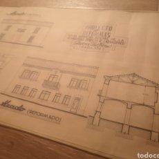 Documentos antiguos: PROYECTO EDIFICIO HERMANDAD DE LABRADORES, RIBERA DEL FRESNO, PLANO ARQUITECTO. Lote 194348703