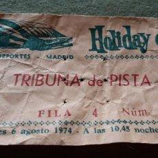 Documentos antiguos: ENTRADA HOLIDAY ON ICE - PALACIO DE LOS DEPORTES DE MADRID. Lote 194368232