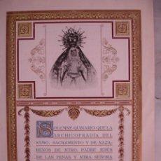 Documentos antiguos: QUINARIO JESUS DE LAS PENAS Y SRA DE GRACIA Y ESPERANZA SEVILLA 1929 4PG.17.5X12.5. Lote 194391460