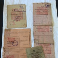 Documentos antiguos: COMISARÍA GENERAL COLECCION DE CUPONES RACIONAMIENTO GIJON AÑOS 50. Lote 194487803