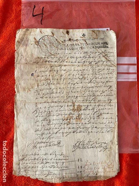 Documentos antiguos: documento de 1714 , manuscrito EL BORJE , MÁLAGA , ORDEN DE PAGO , GABRIEL FALCON , RIOGORDO - Foto 2 - 194488757