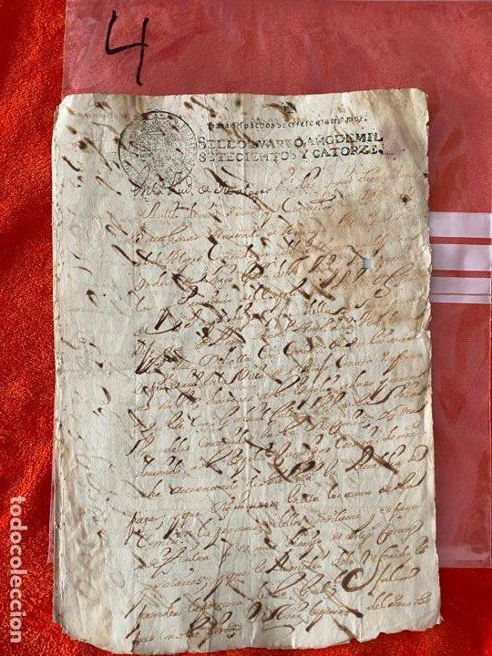 DOCUMENTO DE 1714 , MANUSCRITO EL BORJE , MÁLAGA , ORDEN DE PAGO , GABRIEL FALCON , RIOGORDO (Coleccionismo - Documentos - Otros documentos)