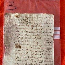 Documentos antiguos: DOCUMENTO DE 1648 , EL BORJE , BENAMARGOSA , MÁLAGA , PAGO A PEDRO GARCIA MORENO . Lote 194489012