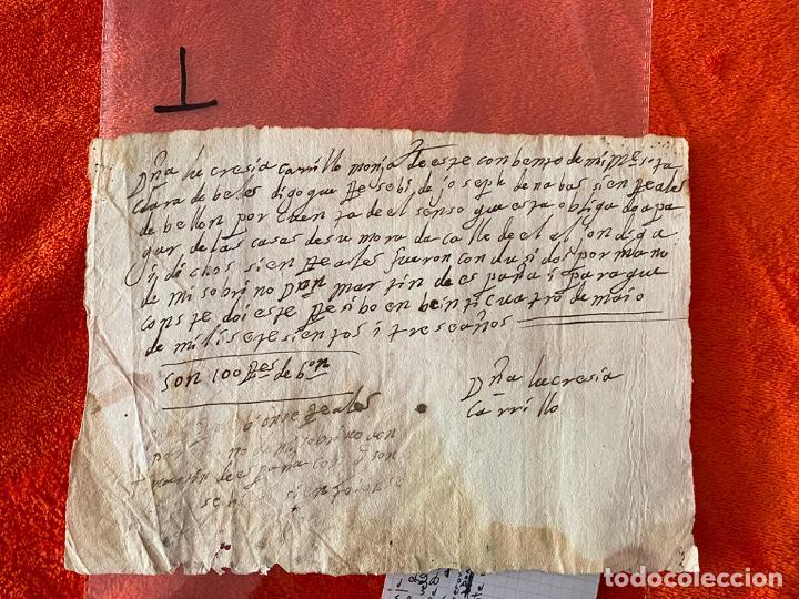 RECIBO DE 1703 , VELEZ MALAGA , MÁLAGA , CONVENTO DE SANTA CLARA MONJA LUCRECIA CARRILLO (Coleccionismo - Documentos - Otros documentos)
