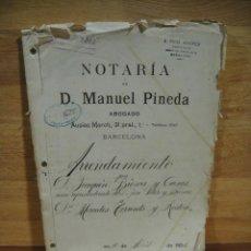 Documentos antiguos: ESCRITURA DE ARRENDAMIENTO - BARCELONA AÑO 1931. Lote 194493032
