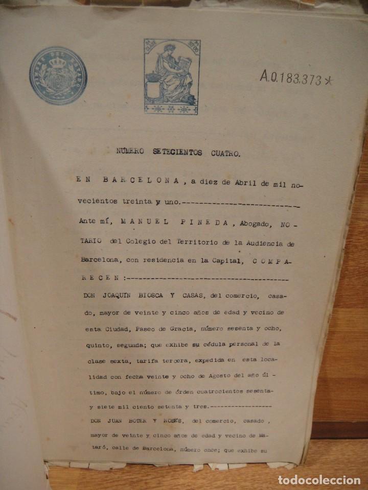 Documentos antiguos: escritura de arrendamiento de casas en badalona - barcelona año 1931 - Foto 2 - 194493032