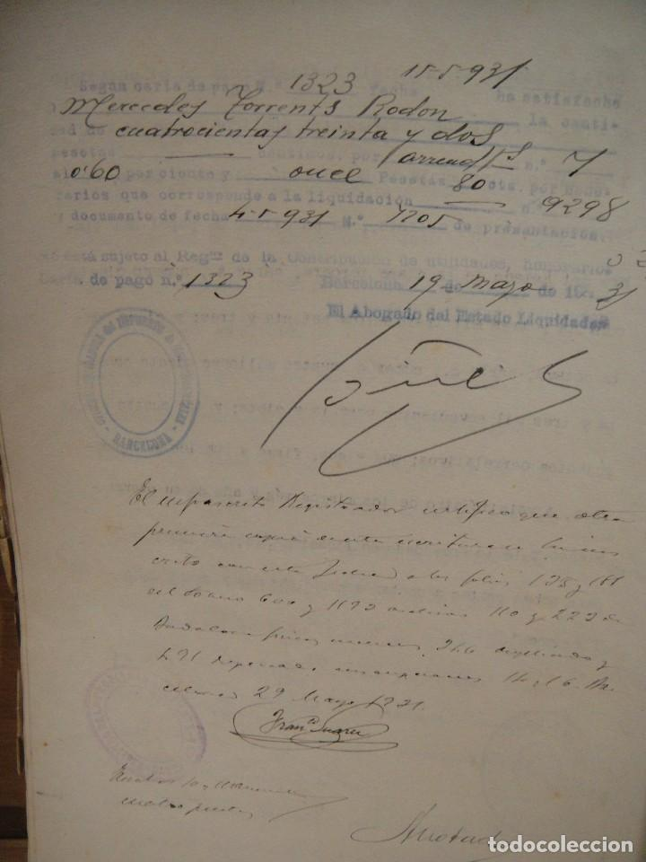 Documentos antiguos: escritura de arrendamiento de casas en badalona - barcelona año 1931 - Foto 3 - 194493032