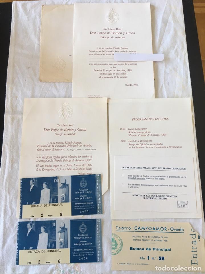 Documentos antiguos: INVITACIÓN DE SU ALTEZA REAL DON FELIPE DE BORBON ALOS PREMIOS PRINCIPE DE ASTURIAS 1988 - Foto 2 - 194494507