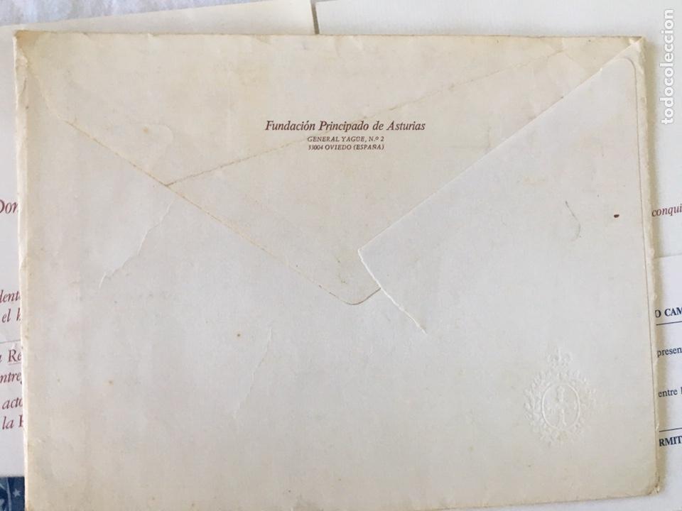 Documentos antiguos: INVITACIÓN DE SU ALTEZA REAL DON FELIPE DE BORBON ALOS PREMIOS PRINCIPE DE ASTURIAS 1988 - Foto 4 - 194494507