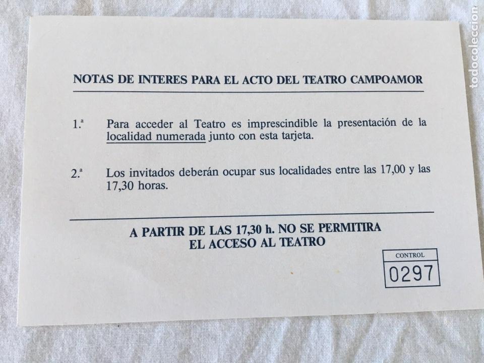 Documentos antiguos: INVITACIÓN DE SU ALTEZA REAL DON FELIPE DE BORBON ALOS PREMIOS PRINCIPE DE ASTURIAS 1988 - Foto 10 - 194494507