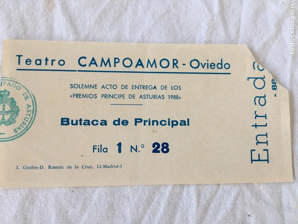 Documentos antiguos: INVITACIÓN DE SU ALTEZA REAL DON FELIPE DE BORBON ALOS PREMIOS PRINCIPE DE ASTURIAS 1988 - Foto 11 - 194494507
