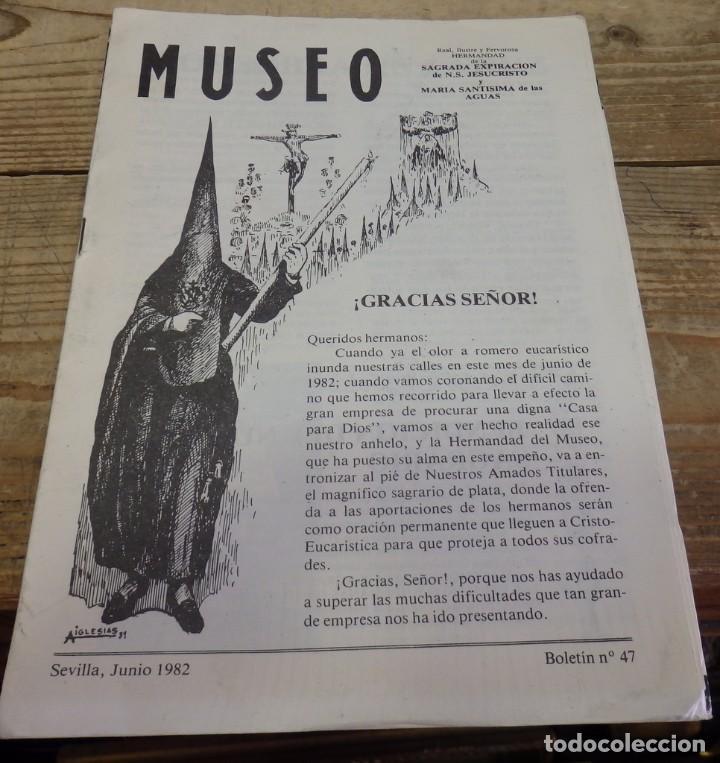 SEMANA SANTA SEVILLA, 1982, BOLETIN NUM. 47 HERMANDAD DEL MUSEO (Coleccionismo - Documentos - Otros documentos)