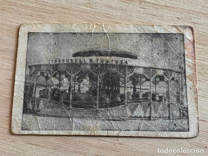 Documentos antiguos: vale por un viaje en el carrusell - viuda de nicolas tortosa - atracciones de feria - ver reverso - Foto 4 - 194534753