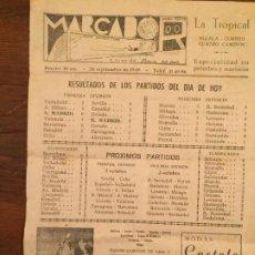 Documentos antiguos: ANTIGUA HOJA MARCADOR DE FUTBOL RESULTADOS DE LOS PARTIDOS DEL DIA DE HOY AÑO 1948. Lote 194535333