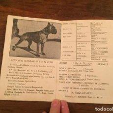 Documentos antiguos: ANTIGUO FOLLETO INFORMATIVO DEL PERRO DE LA RAZA BOXER AÑOS 30-40. Lote 194536008