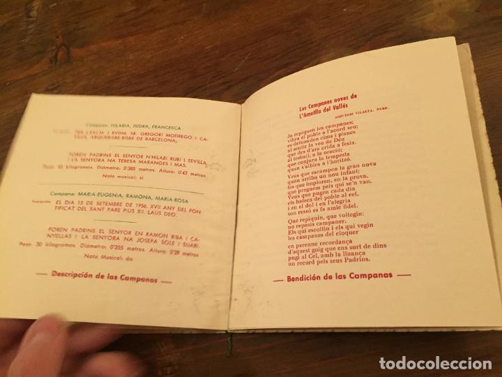 Documentos antiguos: Antigua tarjeta religiosa las 8 nuevas campanas de la Ametlla del Valles años 50 - Foto 5 - 194536202