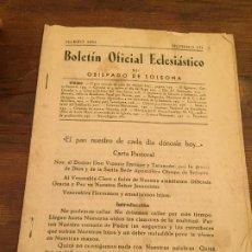 Documentos antiguos: ANTIGUO DOCUMENTO RELIGIOSO BOLETÍN OFICIAL ECLESIÁSTICO OBISPADO DE SOLSONA AÑO 1950. Lote 194536831