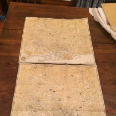 Documentos antiguos: ANTIGUOS 2 MAPA DE LA CIUDAD DE BARCELONA CONGRESO EUCARISTICO INTERNACIONAL AÑO 1952. Lote 194538168
