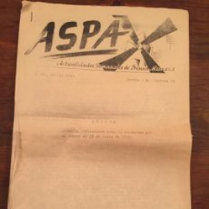Documentos antiguos: ANTIGUO DOCUMENTO ASPA ACTUALIDAD SETMANAL DE PRENSA ALEMANA BERLÍN AÑO 1940 DISCURSO DE HITLER . Lote 194538408