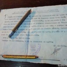 Documentos antiguos: NOTIFICACION ALCALDÍA AYUNTAMIENTO DE HERRERA DE LOS NAVARROS ZARAGOZA 1975. Lote 194538675