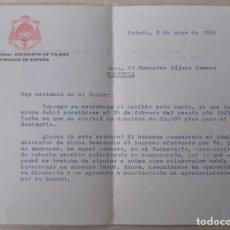 Documentos antiguos: CARTA DE AGRADECIMIENTO DEL CARDENAL ARZOBISPO DE TOLEDO, MARCELO GONZALEZ A DONANTE, FIRMA. Lote 194540506
