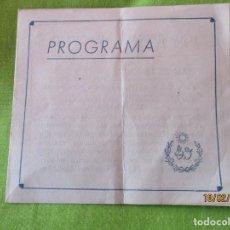 Documentos antiguos: PROGRAMA DE TEATRO. CUMBRES DE HEROISMO. TRAS HEROICAS HUELLAS. EN TIERRAS DE HEROISMO. Y ........... Lote 194540581