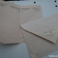 Documentos antiguos: ANTIGUO SOBRE E IMPRESO DE RECETA SIN RELLENAR DR. NIUBÓ HOSPITAL CLINICO AÑOS 50. Lote 194566921