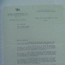 Documentos antiguos: MARINA - NAVIERA ALVARGONZALEZ S.A.: CARTA A CAPITAN LAGO ISOBA SOBRE CONTRATO, ETC. GIJON, 1971. Lote 194598446