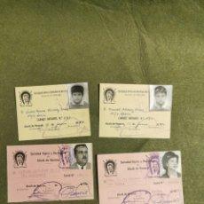 Documentos antiguos: LOTES DE CARNET DE LA SOCIEDAD HÍPICA RECREATIVA MILITAR ALCALÁ DE HENARES. Lote 194613028