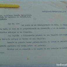 Documentos antiguos: CARTA DE UN CAPITAN DE LA MARINA MERCANTE OFRECIENDOSE A TRABAJAR PARA BUTANO S.A.. SEVILLA, 1976. Lote 194619018