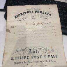 Documentos antiguos: ESCRITURA PÚBLICA. Lote 194634750