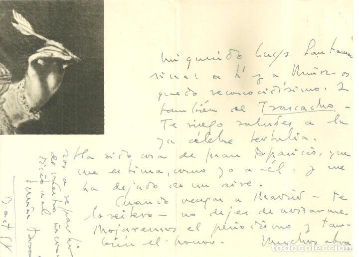 C1.- TOMAS BORRAS CARTA MANUSFRITA ENVIADA AL POETA LUYS SANTA MARINA - FALANGE ESPAÑOLA (Coleccionismo - Documentos - Otros documentos)